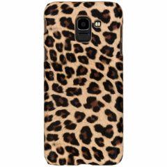 Leopard Design Hardcase-Hülle Braun für Samsung Galaxy J6