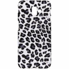 Leopard Design Hardcase-Hülle Weiß  für das Galaxy J6 Plus
