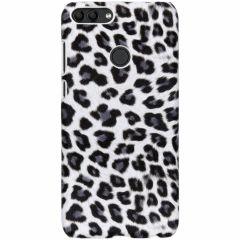 Leopard Design Hardcase-Hülle Weiß für das Huawei P Smart