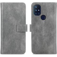 iMoshion Luxuriöse Buchtyp-Hülle OnePlus Nord N10 5G - Grau