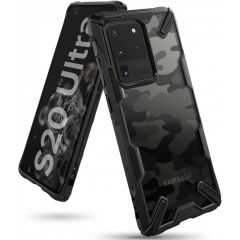Ringke Fusion X Design Backcover Schwarz Samsung Galaxy S20 Ultra