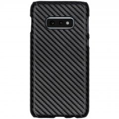 Carbon Look Hardcase-Hülle Schwarz für Samsung Galaxy S10e