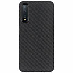 Carbon-Hülle Schwarz für das Samsung Galaxy A7 (2018)