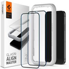 Spigen AlignMaster Full Screen Protector 2-Pack iPhone 12 Pro Max