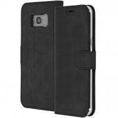 Accezz Schwarzes Wallet TPU Booklet für das Samsung Galaxy S8 Plus