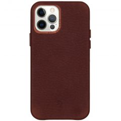 Decoded Leather Backcover iPhone 12 (Pro) - Chocolate Brown