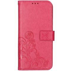 Kleeblumen Booktype Hülle Nokia 5.3 - Fuchsia