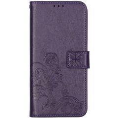 Kleeblumen Booktype Hülle Nokia 5.3 - Violett