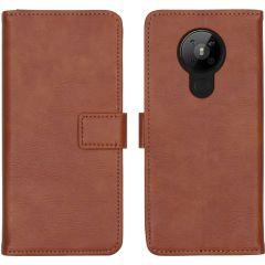 iMoshion Luxuriöse Buchtyp-Hülle Nokia 5.3 - Braun