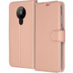Accezz Wallet TPU Booklet für das Nokia 5.3 - Roségold