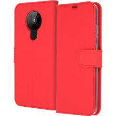 Accezz Wallet TPU Booklet für das Nokia 5.3 - Rot