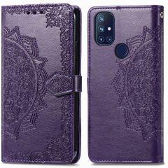 iMoshion Mandala Booktype-Hülle OnePlus Nord N10 5G - Violett