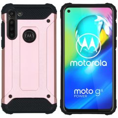 iMoshion Rugged Xtreme Case Roségold Motorola Moto G8 Power