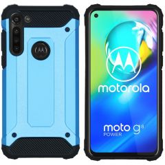 iMoshion Rugged Xtreme Case Hellblau Motorola Moto G8 Power