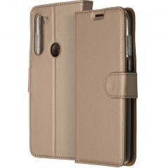 Accezz Wallet TPU Booklet für das Motorola Moto G8 Power - Gold