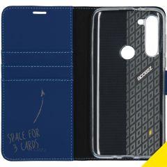 Accezz Wallet TPU Booklet für das Motorola Moto G8 Power - Blau