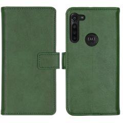 iMoshion Luxuriöse Buchtyp-Hülle Grün für das Motorola Moto G8 Power