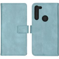 iMoshion Luxuriöse Buchtyp-Hülle Hellblau für Motorola Moto G8 Power