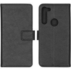 iMoshion Luxuriöse Buchtyp-Hülle Schwarz für Motorola Moto G8 Power
