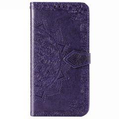 Mandala Booktype-Hülle Violett für Motorola Moto G8 Power