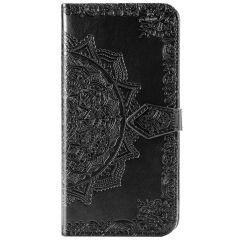 Mandala Booktype-Hülle Schwarz für Motorola Moto G8 Power