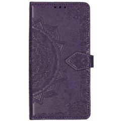 Mandala Booktype-Hülle Violett für das Motorola Moto E6 Play