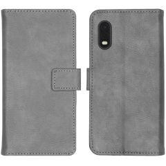 iMoshion Luxuriöse Buchtyp-Hülle Grau Samsung Galaxy Xcover Pro