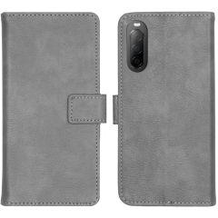 iMoshion Luxuriöse Buchtyp-Hülle Grau Sony Xperia 10 II