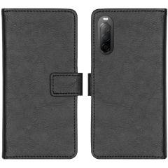 iMoshion Luxuriöse Buchtyp-Hülle Schwarz Sony Xperia 10 II