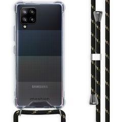 iMoshion Backcover mit Band Samsung Galaxy A42 - Schwarz / Gold