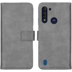 iMoshion Luxuriöse Buchtyp-Hülle Motorola Moto G8 Power Lite - Grau