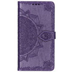 Mandala Booktype-Hülle Violett für das Motorola Moto G7 Play