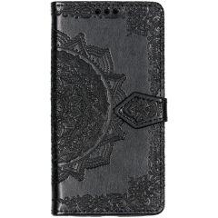Mandala Booktype-Hülle Schwarz für das Motorola Moto G7 Play