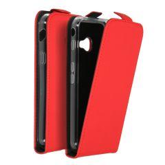 Accezz Schwarzer Flip Case Rot für das Samsung Galaxy Xcover 4 / 4s