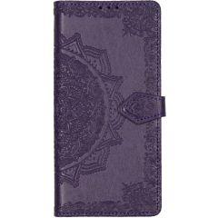 Mandala Booktype-Hülle Motorola Moto G8 Power Lite - Violett