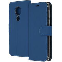 Accezz Wallet TPU Booklet Dunkelblau für das Motorola Moto G7 Power