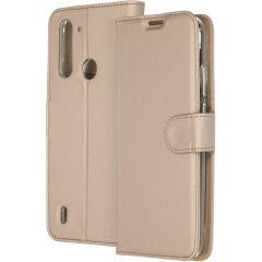 Accezz Wallet TPU Booklet Motorola Moto G8 Power Lite - Gold