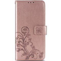 Kleeblumen Booktype Hülle Rosa OnePlus 8 Pro