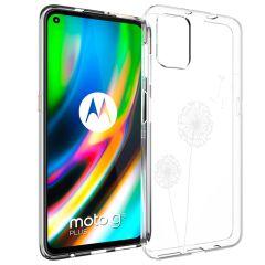iMoshion Design Hülle Motorola Moto G9 Plus - Pusteblume - Weiß