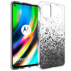 iMoshion Design Hülle Motorola Moto G9 Plus - Spritzer - Schwarz