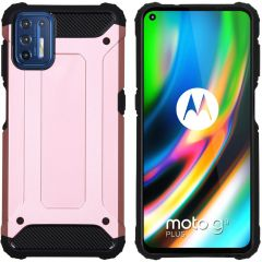 iMoshion Rugged Xtreme Case Motorola Moto G9 Plus - Roségold