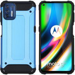 iMoshion Rugged Xtreme Case Motorola Moto G9 Plus - Hellblau