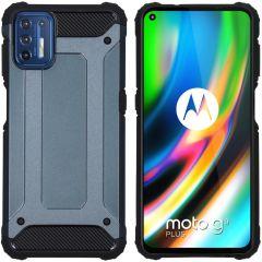 iMoshion Rugged Xtreme Case Motorola Moto G9 Plus - Dunkelblau
