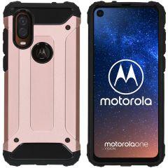 iMoshion Rugged Xtreme Case Roségold für Motorola One Vision