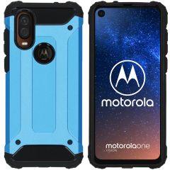 iMoshion Rugged Xtreme Case Hellblau für Motorola One Vision