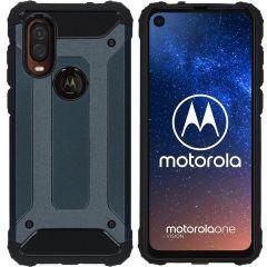 iMoshion Rugged Xtreme Case Dunkelblau für Motorola One Vision