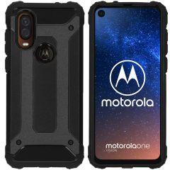 iMoshion Rugged Xtreme Case Schwarz für Motorola One Vision