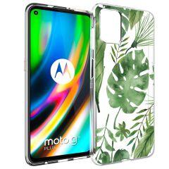 iMoshion Design Hülle Motorola Moto G9 Plus - Blätter - Grün