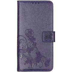 Kleeblumen Booktype Hülle Violett Nokia 6.2 / Nokia 7.2