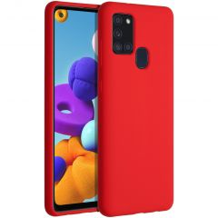 Accezz Liquid Silikoncase für das Samsung Galaxy A21s - Rot